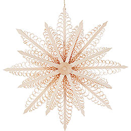 Tree Ornament - Wood Chip Star - 27 cm / 10.6 inch