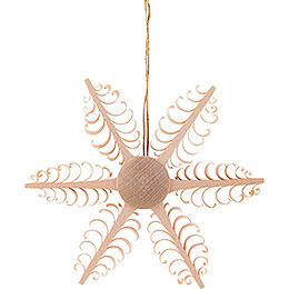 Tree Ornament - Wood Chip Star - 6,5 cm / 2.6 inch