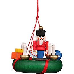 Tree Ornament - Wreath with Nutcracker - 5,2 cm / 2 inch