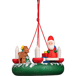 Tree Ornament - Wreath with Santa Claus - 4,2 cm / 1.7 inch