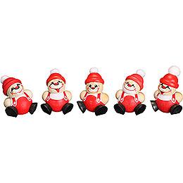 Tree Ornaments Ball - Figures Santa Claus - 5-tlg. - 4 cm / 1.6 inch
