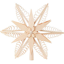 Tree Topper - Wood Chip Star - 32 cm / 12.6 inch