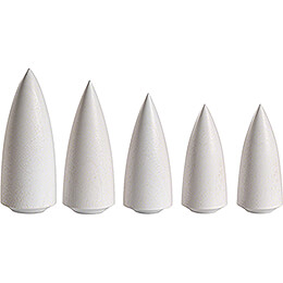 Trees White - 5 pieces - 9 cm / 3.5 inch