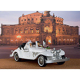 Two Smokers with Exclusive Wedding Limousine - 70x32 cm / 28x13 inch