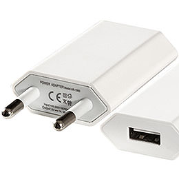 USB Wall Power Supply 110-220V/5V - 2 cm / 0.8 inch