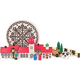 Village in Wood Chip Box - 5,5 cm / 2.2 inch
