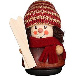Wackelmännchen Skifahrer natur - 8 cm