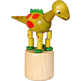 Wackeltier Dinosaurier gelb - 8,5 cm
