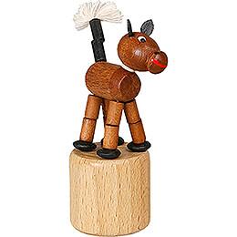 Wackeltier Pferd braun - 7,5 cm