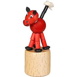 Wackeltier Pferd rot - 7,5 cm