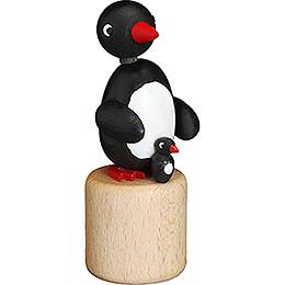 Wackeltier Pinguin mit Kind - 8 cm