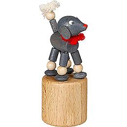 Wackeltier Pudel grau - 7 cm