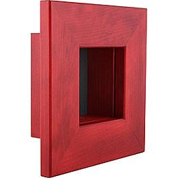 Wall Frame Red - 23x23x8 cm / 9.1x9.1x3.2 inch