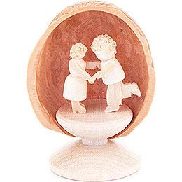 Walnussschale mit Tanzpaar - 5 cm