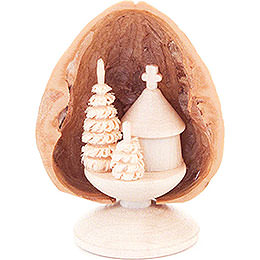 Walnut Shell with Forest Chapel - 5 cm / 2 inch