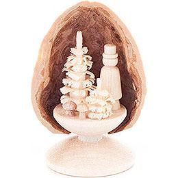 Walnut Shell with Mushroom Picker - 5 cm / 2 inch
