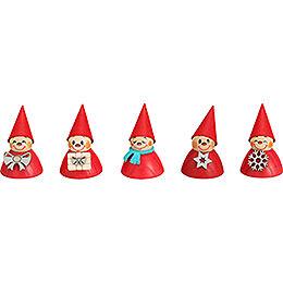 Weihnachts-Wippel, 5er Satz - 4 cm