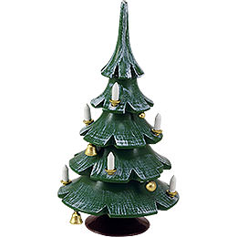 Weihnachtsbaum mit Glöckchen, farbig - 12 cm