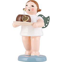 Weihnachtsengel mit Kuchen  - 6,5 cm