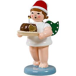 Weihnachtsengel mit Mütze und Kuchen  - 6,5 cm