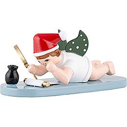 Weihnachtsengel mit Mütze und Wunschzettel - 6,5 cm