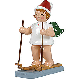 Weihnachtsengel mit Mütze und Schneeschuhen - 6,5 cm