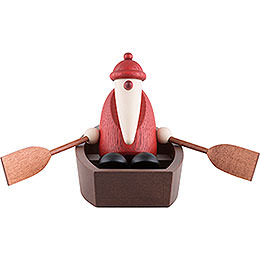 Weihnachtsmann im Ruderboot - 9 cm