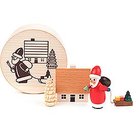 Weihnachtsmann in Spandose - 4 cm