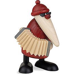Weihnachtsmann mit Akkordeon - 9 cm