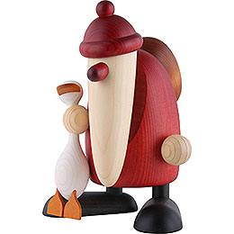 Weihnachtsmann mit Gans Auguste - 19 cm