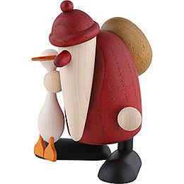 Weihnachtsmann mit Gans Auguste - 9 cm
