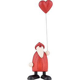 Weihnachtsmann mit Herz - 9 cm