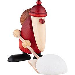 Weihnachtsmann mit Schneeschieber - 19 cm