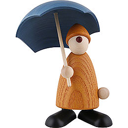 Well-Wisher Charlie with Umbrella, Yellow - 9 cm / 3.5 inch
