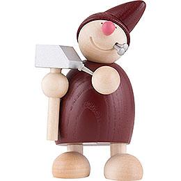 Wicht mit Hammer und Nägeln - rot - 10,5 cm