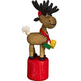 Wiggle Figure - Christmas Moose - 10 cm / 3.9 inch