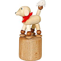 Wiggle Figure - Poodle - white - 7 cm / 2.8 inch