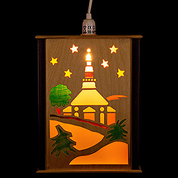 Window Lantern - Seiffen Church - 27 cm / 10.6 inch