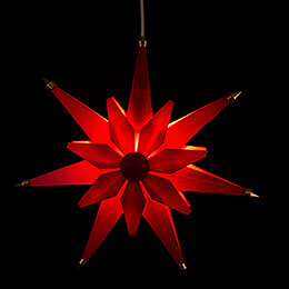 Window Picture - Christmas Star Red - 40 cm / 15.7 inch