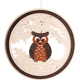 Window Picture - Owl - 24 cm / 9.4 inch