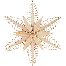 Window Picture - Wood Chip Star - 23 cm / 9.1 inch