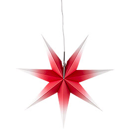 Window Star - Red - White - 53 cm / 20.9 inch
