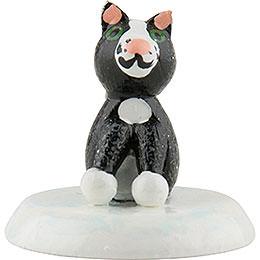 Winter Children Black Cat - Set of Six - 2,5 cm / 1 inch