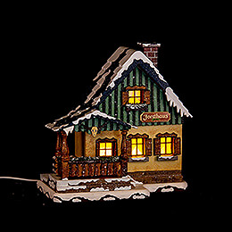 Winter Children Forest House - 15 cm / 6 inch