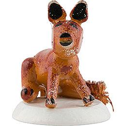 Winter Children Fox - Set of Four - 3 cm / 1,5 inch