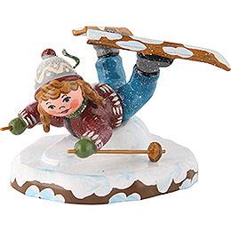 Winter Children Girl on Ski Belly Flopper - 7cm/3 inch