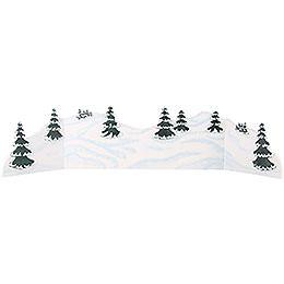 Winter Landscape Diorama - 100-115x24 cm / 39-45x9,5 inch