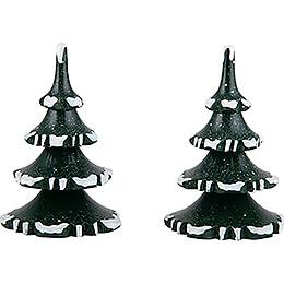 Winterkinder 2er-Set Baum - mittel - 8 cm