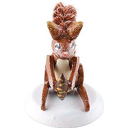Winterkinder 4er-Set Eichhörnchen - 3 cm
