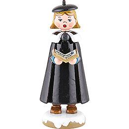 Winterkinder Kurrendemädchen mit Buch - 8 cm